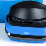 Acer Windows Mixed Reality Headset with Blue Box in Background