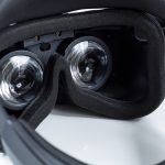 Acer Windows Mixed Reality Headset - View of Lenses Inside at an Angle
