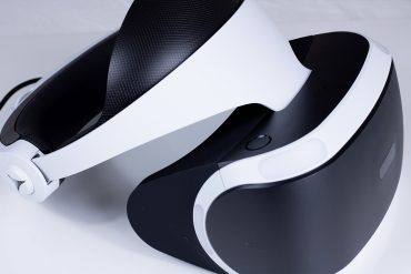 Sony Playstation VR Headset from the side.