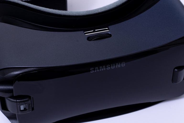 Samsung Gear VR Front Closeup - view of the front of the headset.