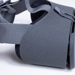 Side angle of the Google Daydream View VR headset.