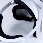 Alternative view of the Lenovo Mirage Solo headset, closeup.