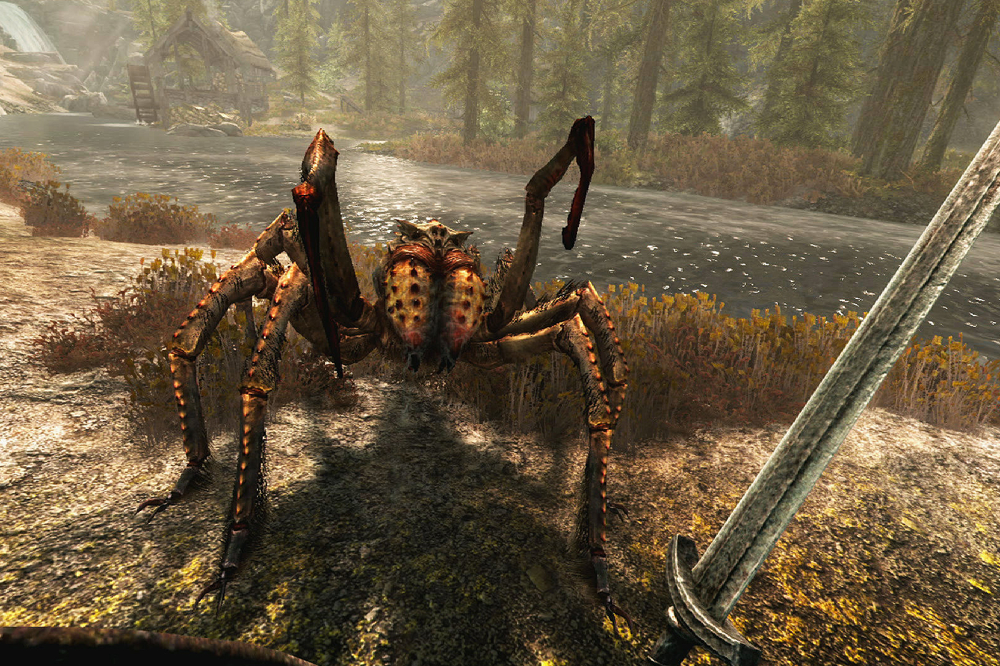 Spider Crab Creature in the Elder Scrolls V Skyrim VR
