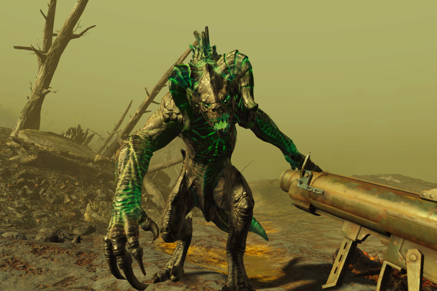 Monster creature in Fallout 4 VR Game