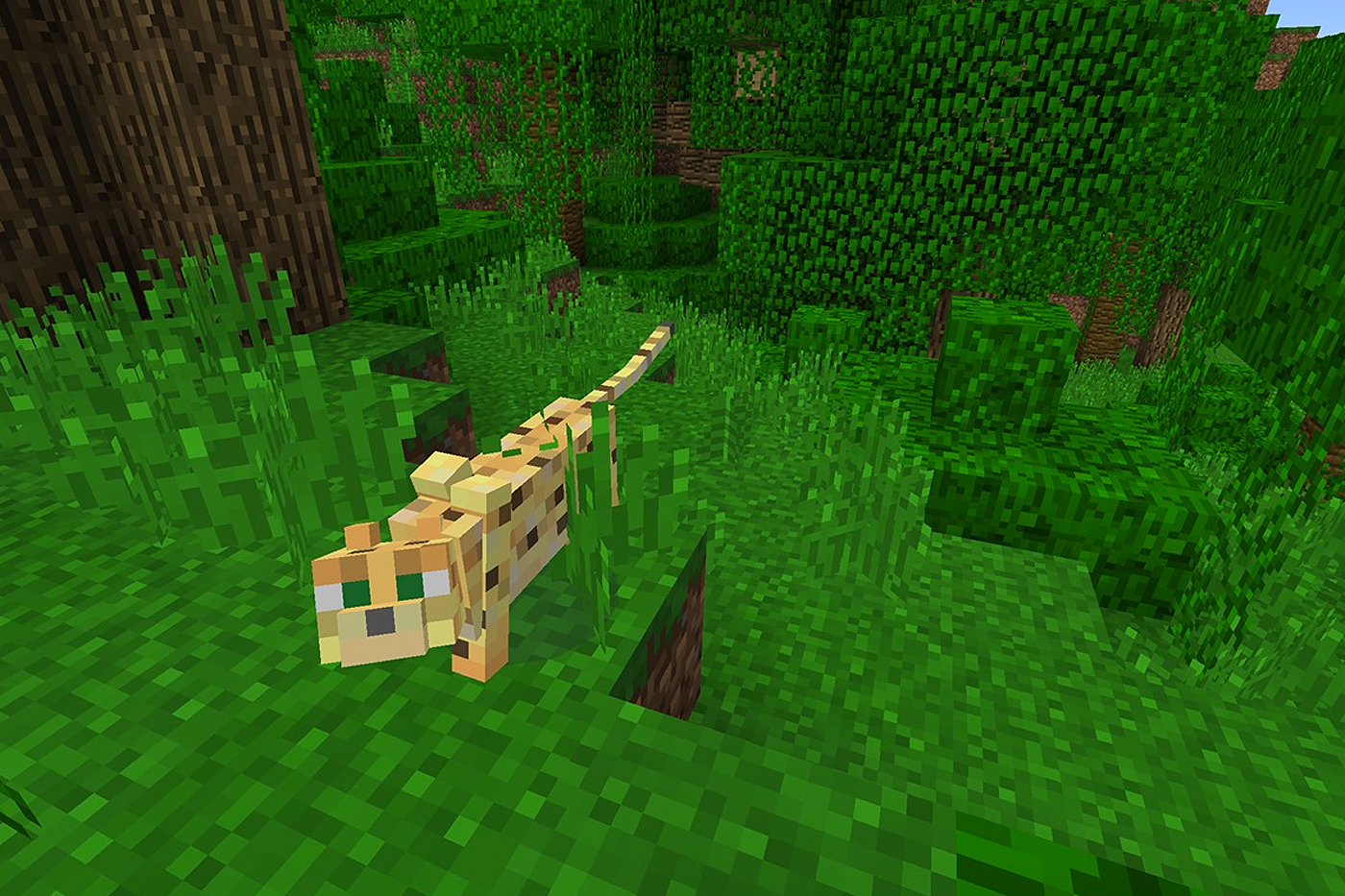 Minecraft VR - Leopard in Grass