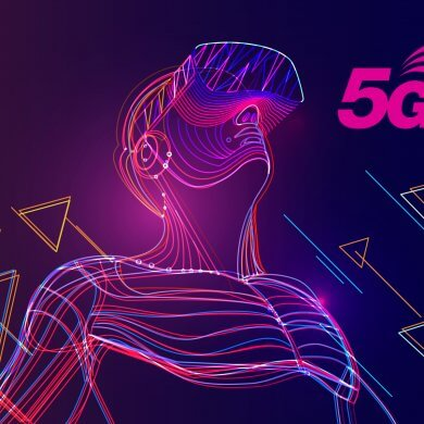 Virtual Reality and 5G Network - Illustrated Man