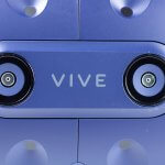 HTC Vive Pro - closeup of front cameras.
